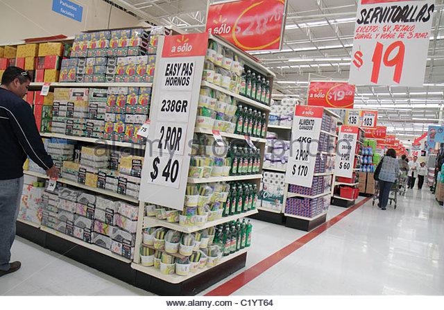 Cancun Mexico Yucatán Peninsula Quintana Roo Avenida Xcaret Wal-Mart Walmart department store shopping retail - Stock Image