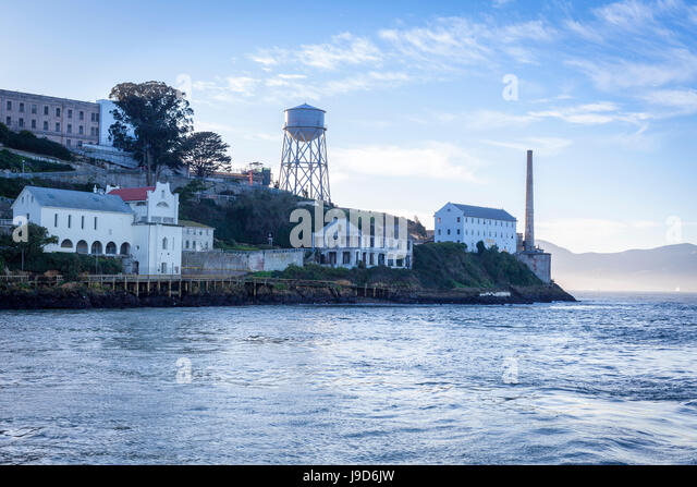 Alcatraz as viewed from a boat, San Francisco, California, USA, North America - Stock-Bilder