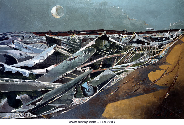 Totes Meer, painting by Paul Nash (1889-1946) from WW1 series. Courtesy Imperieal War Museum. - Stock Image