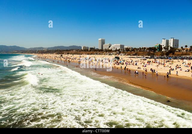 Santa Monica Beach, Los Angeles - Stock Image