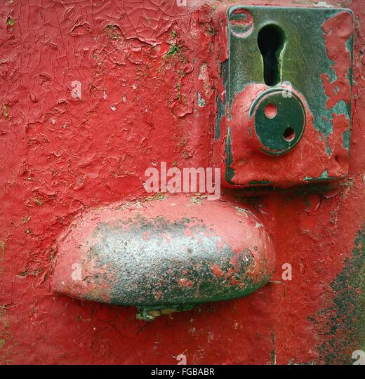Close-Up Of Red Mailbox - Stock-Bilder