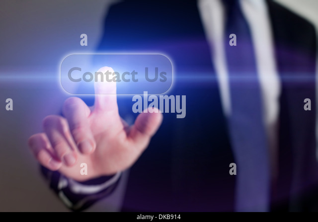 Contact Us button on the touchscreen - Stock-Bilder