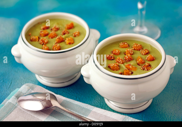 Dried peas purée. Recipe available. - Stock Image