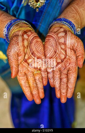 Indian traditions - Mehndi - Stock Image