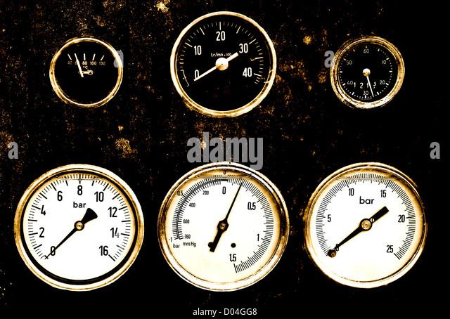 dial pressure measurement - Stock Image