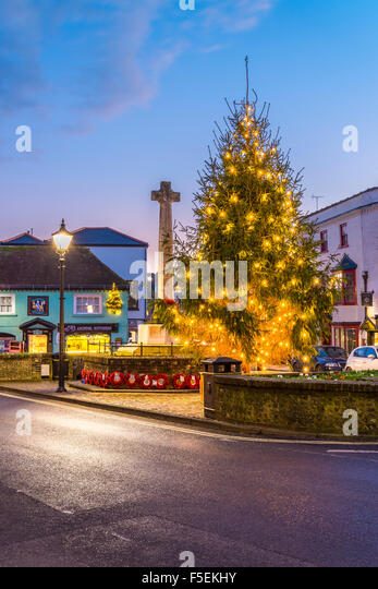 Arundel Christmas Tree - Stock Image
