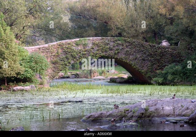 Gapstow Bridge, Central Park, Manhattan, New York - Stock Image