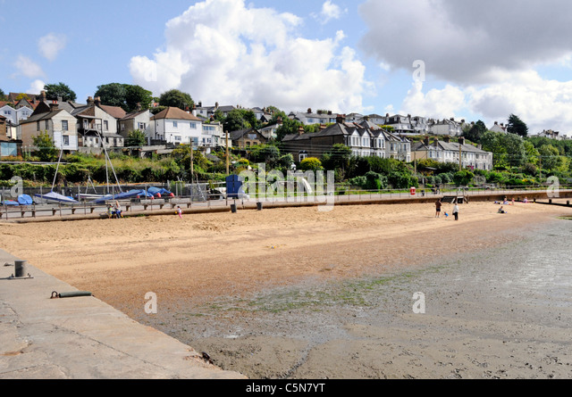 Leigh on Sea Thames Estuary Essex coast England UK sandy beach - Stock Image