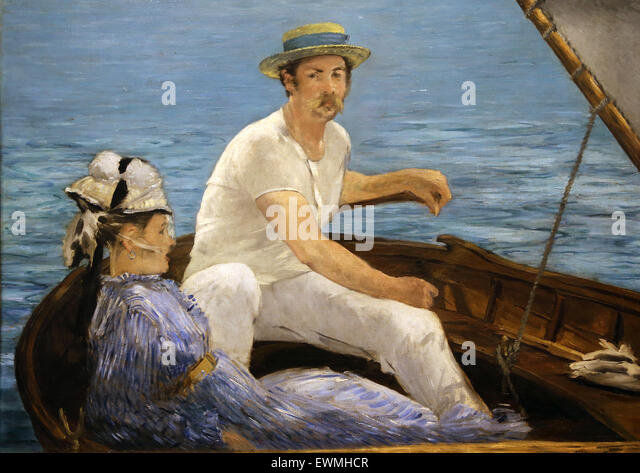 Edouard Manet (1832-1883). French painter. Boating, 1874. Oil on canvas. Metropolitan Museum of Art. Ny. USA. Impressionism. - Stock Image