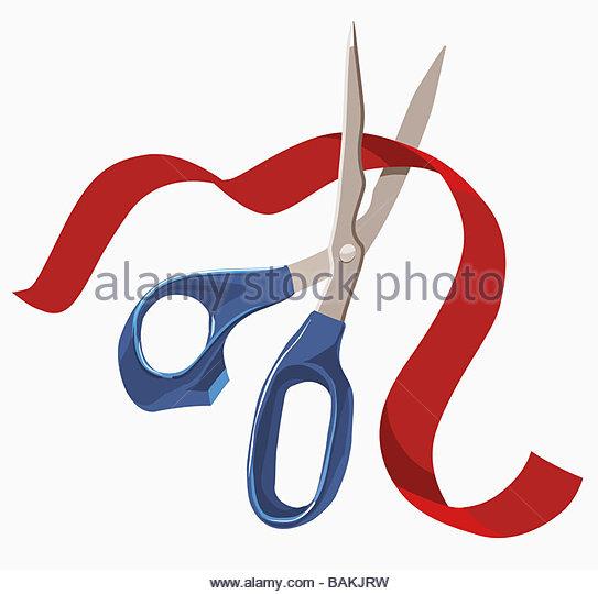 Ribbon Cutting - Stock-Bilder