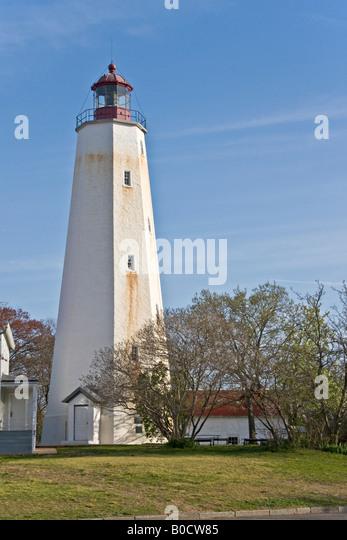 Sandy Hook Lighthouse Sandy Hook New Jersey USA - Stock Image