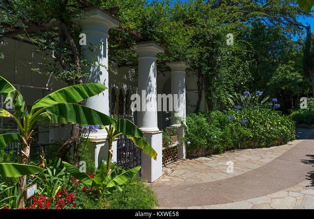 gardens at villa san michele, anacapri on the island of capri, campania, italy. - Stock Image
