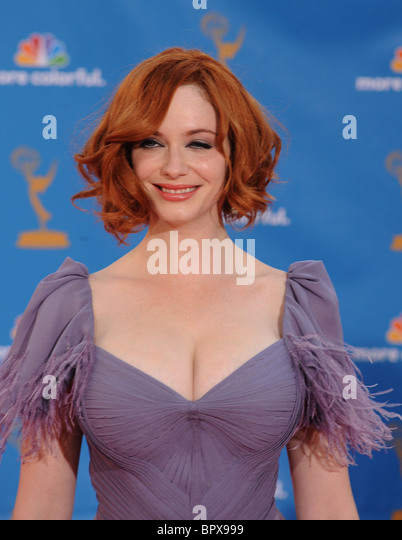 CHRISTINA HENDRICKS at the 62nd Primetime Emmy Awards at Nokia Theatre, Los Angeles, 29 August 2010. Photo Jeffrey - Stock-Bilder