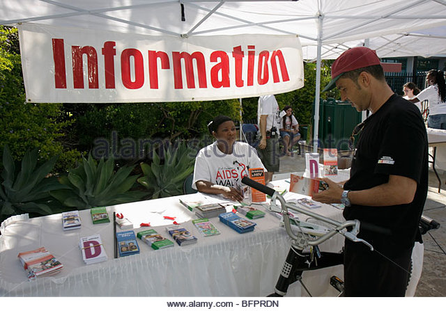 Miami Beach Florida AIDS Walk Miami Care Resource HIV epidemic community resource benefit fundraiser volunteer Black - Stock Image