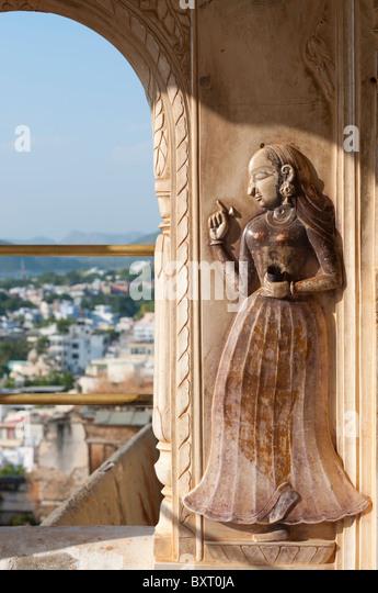 Udaipur City Palace Detail - Stock-Bilder