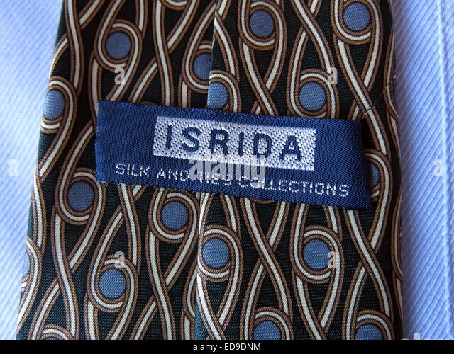 Interesting vintage Isrida collections tie, male neckware in silk - Stock Image