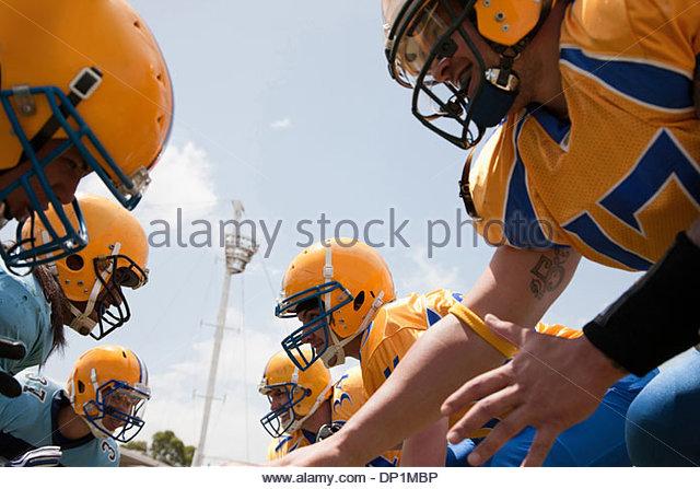 Football players preparing to play football - Stock-Bilder