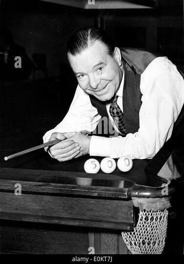 Jan. 01, 1950 - File Photo: circa 1940s-1950s, location unknown. JOE DAVIS with pool billiards. - Stock Image