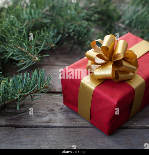 christmas gift - Stock Image