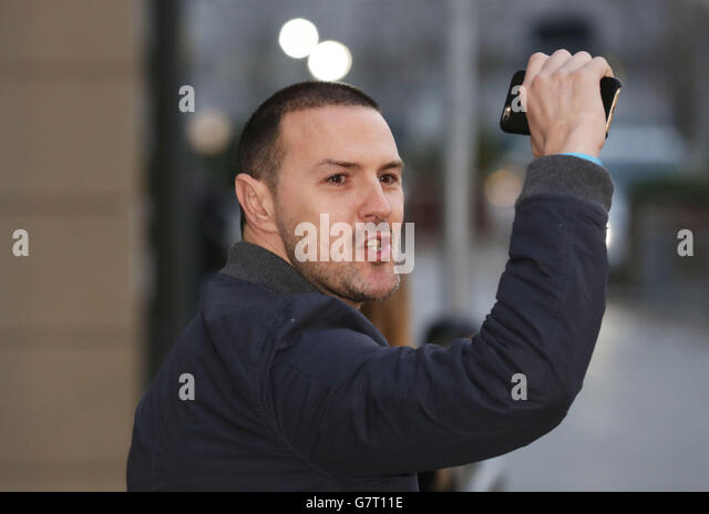 Paddy McGuinness sighting - Manchester - Stock Image