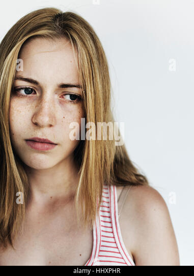 Woman Sadness Depress Frustrated Grief Concept - Stock Image