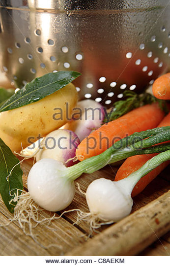 Ingredients for fish stew - Stock Image