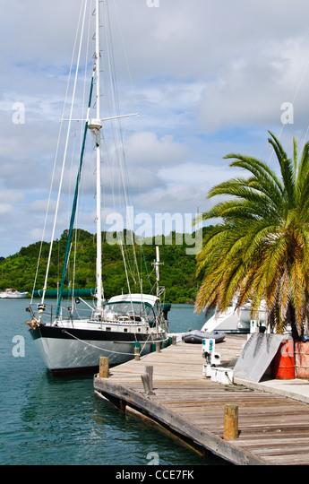 Nelson's Dockyard, English Harbour, Antigua - Stock Image