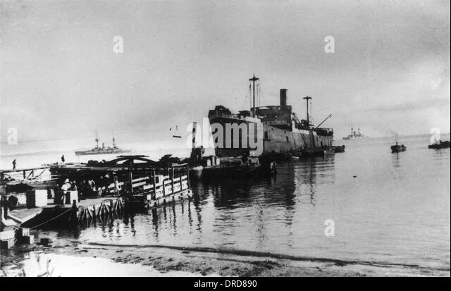 SS River Clyde at Gallipoli WWI - Stock-Bilder