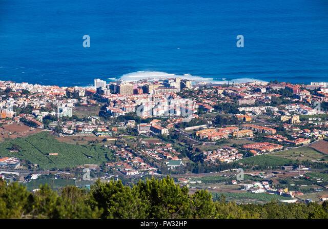 Puerto de la Cruz, Tenerife, Canary Islands, Spain - Stock-Bilder