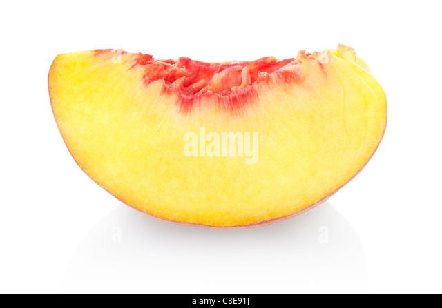 Peach slice - Stock Image