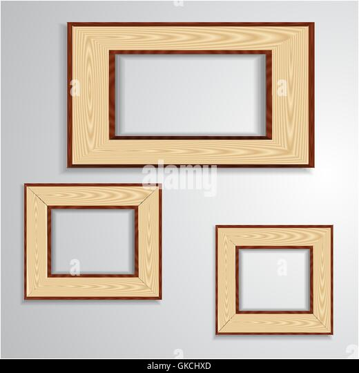 Vintage isolated blank frame - Stock-Bilder