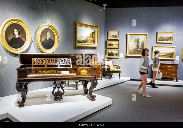 Daytona Beach Florida Museum of Arts & Sciences MOAS inside early furniture - Stock Image