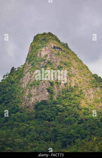 The peak Cerro Chichibali, Cocle province, Republic of Panama. - Stock-Bilder