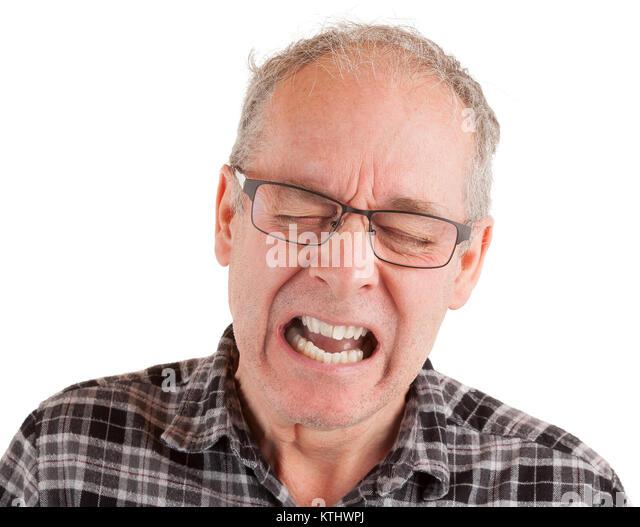 Man expressing pain - Stock Image