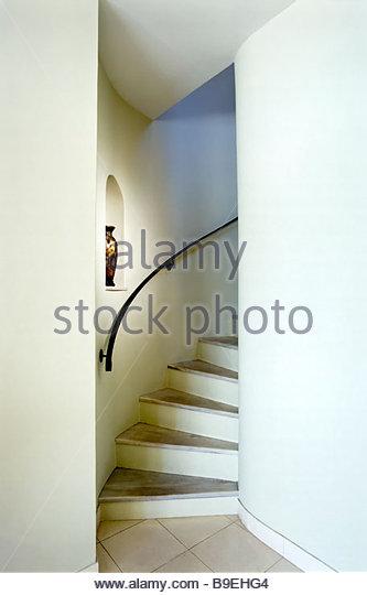 Detail modern winding staircase - Stock-Bilder