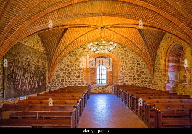 geography / travel, Lithuania, Trakai, Trakai Castle, chapel,Lietuva, Baltics, Baltic area, Baltic states, Baltic - Stock-Bilder