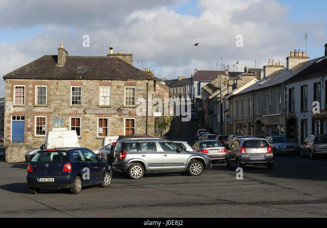 Buildings in Ramelton at Bridge Street and The Mall. Ramelton, County Donegal, Ireland. - Stock Image