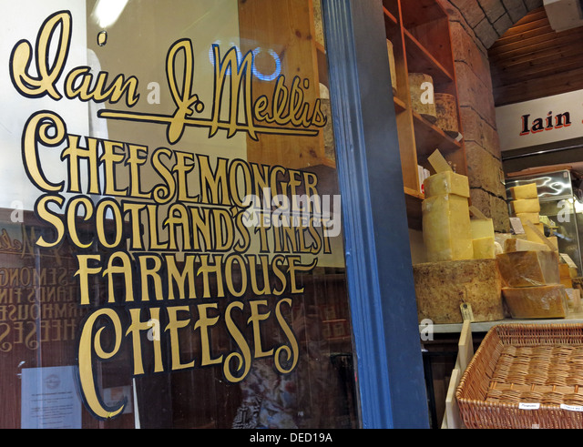 Iain Mellis Cheesemaker, Victoria St,Edinburgh,Scotland,Uk - Stock Image