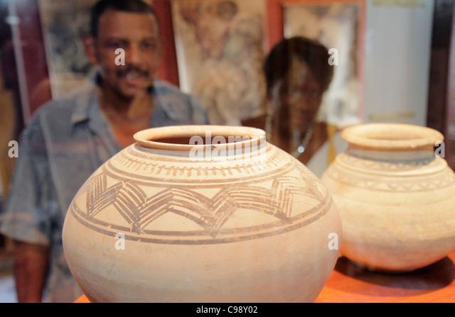 Curaçao Netherlands Antilles Dutch Willemstad Otrobanda Kurá Hulanda Museum anthropological African slave - Stock Image