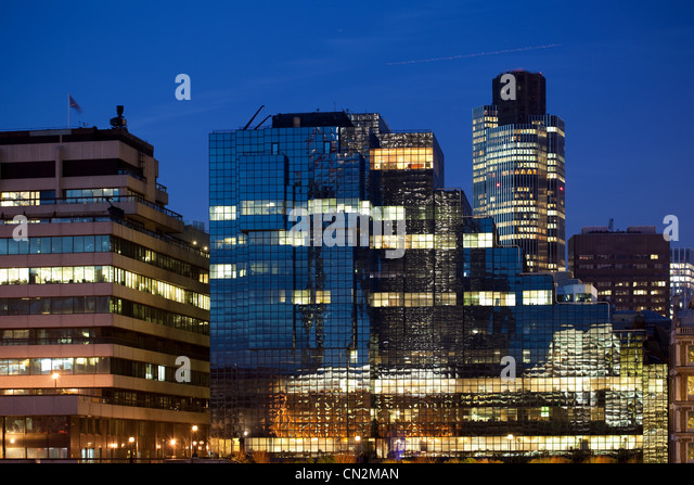 Office buildings in City of London, UK - Stock-Bilder