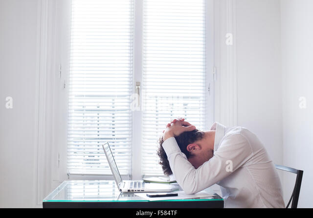 stress at work - Stock Image