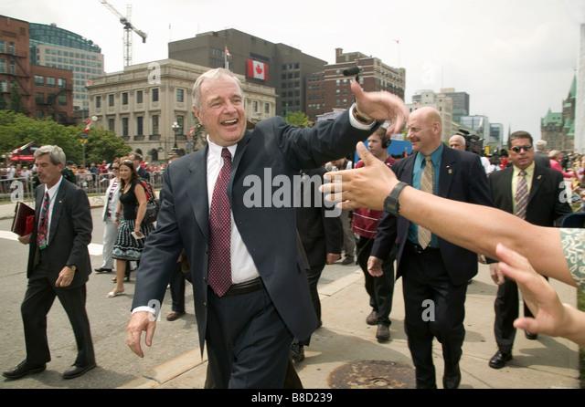 Canada's Prime minister Paul Martin, Canada Day 2005, Ottawa,Ontario - Stock Image