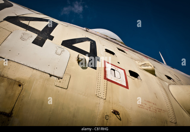 Fuselage from WWII aircraft - Stock Image