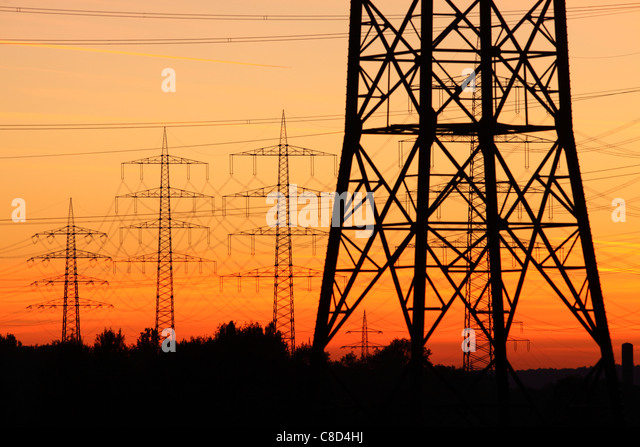 High Voltage Power Lines Stock Photos & High Voltage Power ...