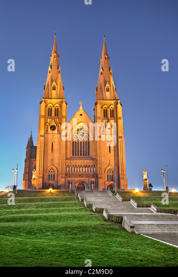 Night capture of Archdiocese of Armagh - Stock Image