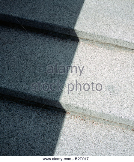 Shadow on steps - Stock Image