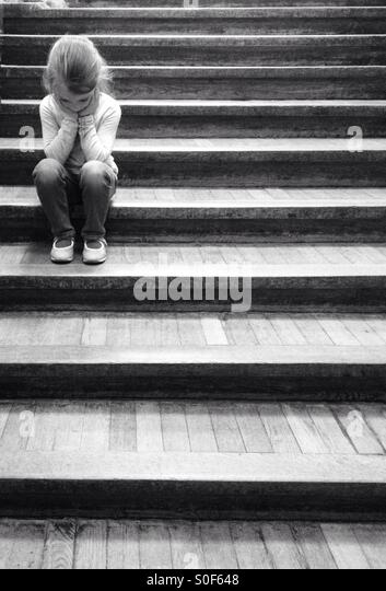 Sad child - Stock Image