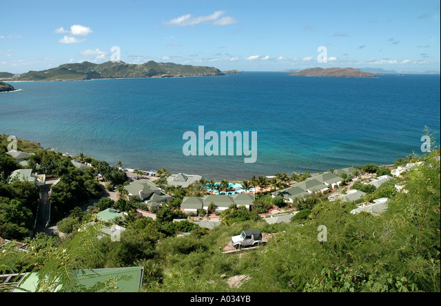St Barths scenic overview panorama - Stock Image