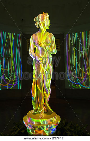 Loop 2000 video sound installation featuring the statue Venus by Thomas Hope Corcoran Gallery of Art Washington - Stock Image