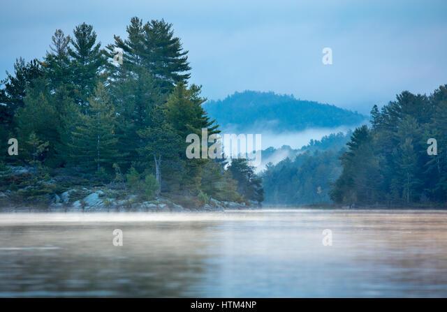 Charlton Lake at dawn, Ontario, Canada - Stock-Bilder